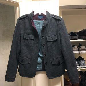Military style wool blazer/jacket